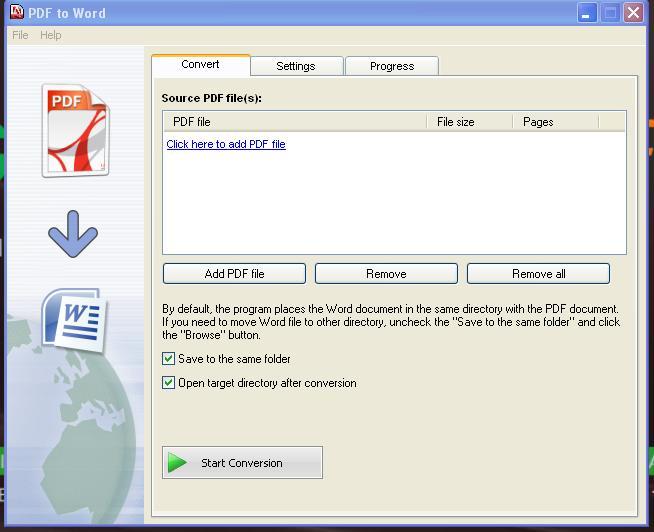 PDF to Image это программа для конвертации PDF документа в графические